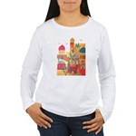 Jerusalem City Colorful Art Women's Long Sleeve T-