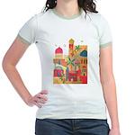 Jerusalem City Colorful Art Jr. Ringer T-Shirt