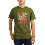 Jerusalem City Colorful Art Organic Men's T-Shirt