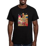 Jerusalem City Colorful Art Men's Fitted T-Shirt (