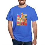 Jerusalem City Colorful Art Dark T-Shirt