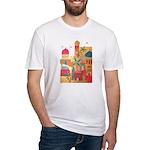 Jerusalem City Colorful Art Fitted T-Shirt