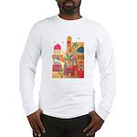 Jerusalem City Colorful Art Long Sleeve T-Shirt