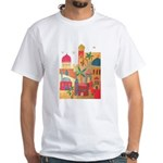 Jerusalem City Colorful Art White T-Shirt