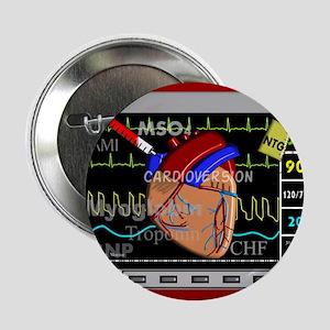 """cardiac pillow CP red 2.25"""" Button"""