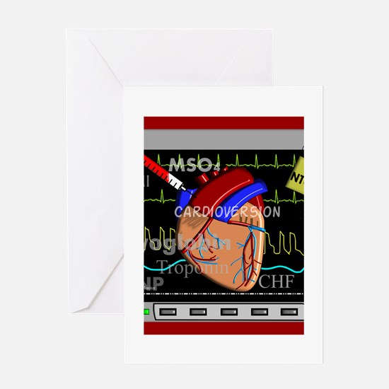 cardiac pillow CP red.PNG Greeting Card