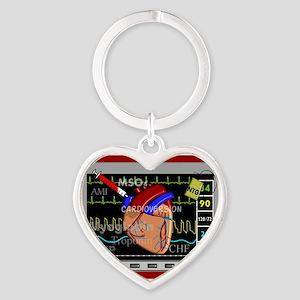 cardiac pillow CP red Heart Keychain