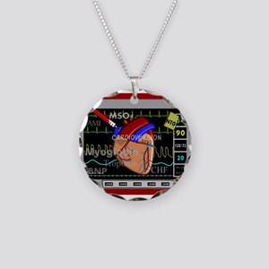 cardiac pillow CP red Necklace Circle Charm