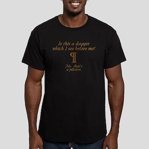 A Dagger No A Pilcrow Men's Fitted T-Shirt (dark)