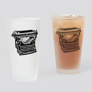 Old Fashioned Typewriter Drinking Glass