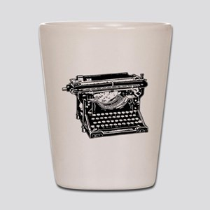 Old Fashioned Typewriter Shot Glass
