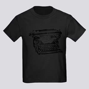Old Fashioned Typewriter Kids Dark T-Shirt
