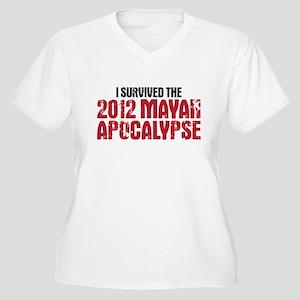 mayan apocalypse Women's Plus Size V-Neck T-Shirt