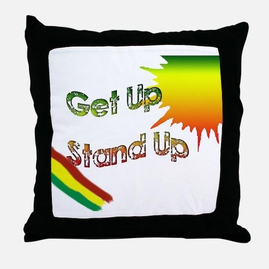 get up stand up Throw Pillow