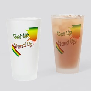 get up stand up Drinking Glass