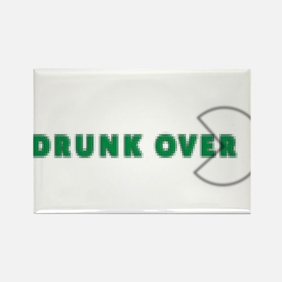 Drunk over with pac Rectangle Magnet