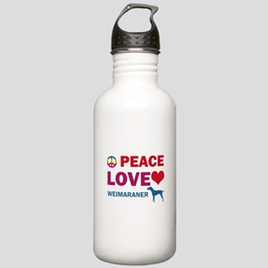 Peace Love Weimaraner Stainless Water Bottle 1.0L