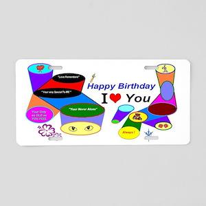 Happy Birthday Love Aluminum License Plate