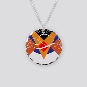 Shield Necklace Circle Charm