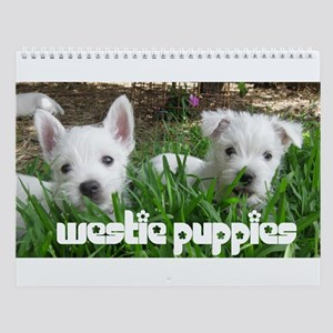 West Highland Puppies Wall Calendar