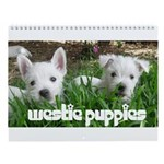 West Highland Puppies Wall Calendar