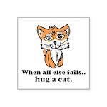 Hug a Cat Square Sticker 3