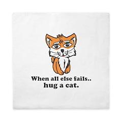 Hug a Cat Queen Duvet