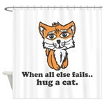 Hug a Cat Shower Curtain