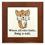 Hug a Cat Framed Tile