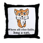 Hug a Cat Throw Pillow