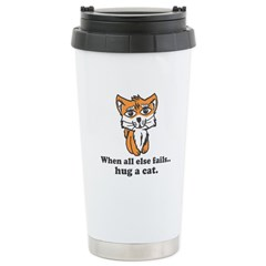 Hug a Cat Stainless Steel Travel Mug