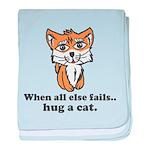 Hug a Cat baby blanket