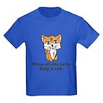 Hug a Cat Kids Dark T-Shirt