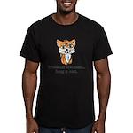 Hug a Cat Men's Fitted T-Shirt (dark)