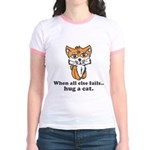 Hug a Cat Jr. Ringer T-Shirt