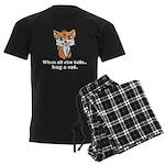 Hug a Cat Men's Dark Pajamas