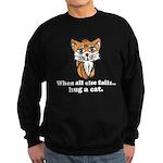 Hug a Cat Sweatshirt (dark)