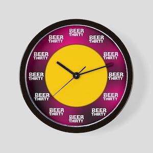 Beer-Thirty Wall Clock