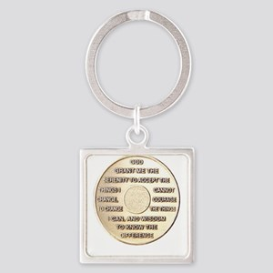 SERENITY COIN Square Keychain