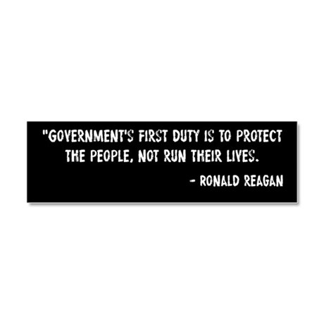 Duty of Government Ronald Reagan Car Magnet 10 x 3