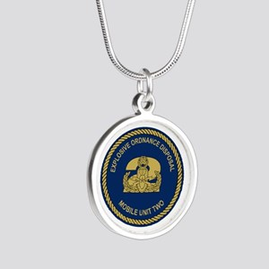 EOD Mobile Unit 2 Silver Round Necklace