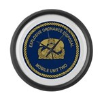 EOD Mobile Unit 2 Large Wall Clock