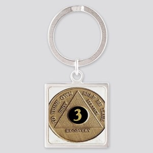 3 YEAR COIN Square Keychain