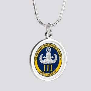 EOD Mobile Unit 3 Silver Round Necklace