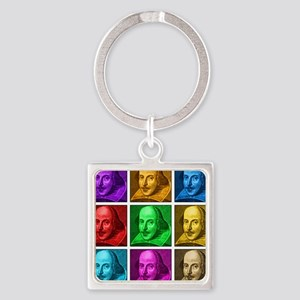 Shakespeare Pop Art Square Keychain