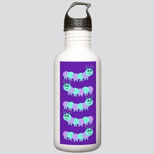Whimsical Baby Bug Purple Stainless Water Bottle 1