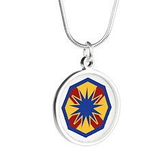 13th ESC Silver Round Necklace