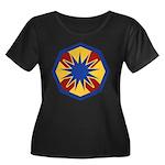 13th ESC Women's Plus Size Scoop Neck Dark T-Shirt