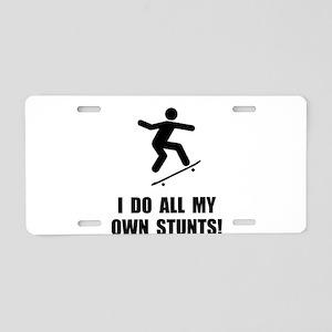 Do Skateboard Stunts Aluminum License Plate