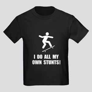 Do Skateboard Stunts Kids Dark T-Shirt